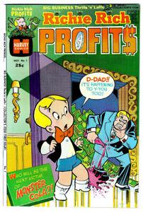 RICHIE RICH PROFITS #1 in VF/NM- a 1974 Harvey Bronze Age Comic FILE COPY