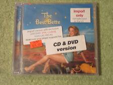 Bette Midler best of cd & dvd import LIVE greatest new sealed