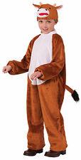 Kids Plush Cow Costume Nativity Animal Christmas Play Child Size Medium 8-10