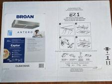 "Broan 30""  Antero Stainless Undercabinet Range Hood Common 30"" CLDA130SS Free Sh"