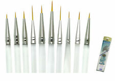 Royal Langnickel Paint Brushes PREMIUM AQUALON 10 Pc DETAIL Set BEST QUALITY