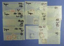 Japan Scott 179 ~ Scott 189 (about 20 stamps) (Lot 30)