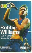 RARE / CARTE TELEPHONIQUE PREPAYEE - ROBBIE WILLIAMS / PHONECARD