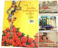 Vtg 1948 PASADENA Tournament of Roses Review Gen. Omar Bradley Majorette Art +++