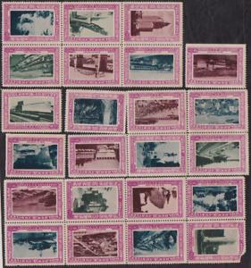 40 1936 Vancouver,British Columbia Golden Jubilee Stamps Cinderellas No Gum