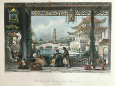 Framed Print – 1843 Thomas Allom Steel Engraving of China - City of Ning-Po