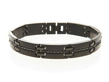 Blackjack Men Mens Stainless Steel 8.5 Inch Bracelet Cuff Bangle Chain Link