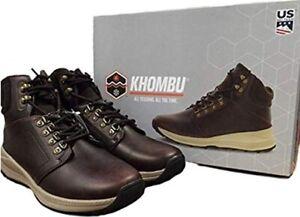 New Men's Memory Foam Khombu Nick Trail Outdoor Hiker Brown Boots SZ 11 12 13