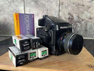 Used - Excellent Mamiya 645 Super AE Prism Finder, SEKOR 80mm lens f stop 2.8