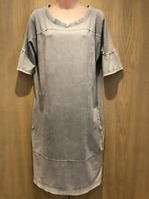 Sandwich Ladies Dress Size M With Pockets Grey T-Shirt Short Sleeves Knee Length