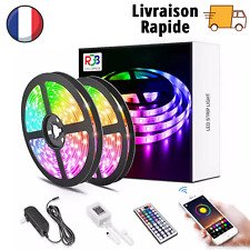 Bande LED Ruban LED Bluetooth RGB 5050 Décoration Flexible Télécommande 5M-30M