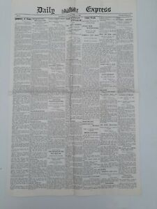 Vintage Daily Express Newspaper No.1 April 24th 1900. Repro?