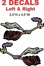 Left and Right Facing Dodge SuperBird Super Bird Road Runner Vinyl Decals