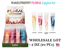 Makeup Depot Floral Lip gloss with Fruit flavor - WHOLESALE LOT 2 DZ (24 PCs)