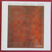 STAN GETZ & ALBERT DAILEY   CD POETRY  BLUE NOTE