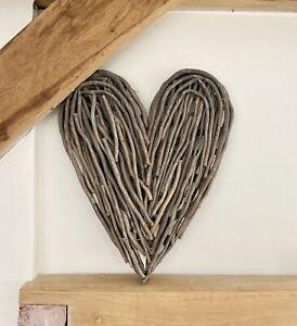 Rustic Wicker Twig Heart wall Hanging Decoration Rattan Wall Art Decoration
