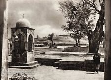 1925 Vintage JERUSALEM Temple Chapel Child Landscape ISRAEL Palestine Photo Art