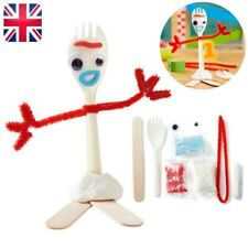 White Forky Toy Make Your Own Kits Art DIY Forky Story 4 Creative Set Kids Gift