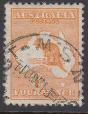AUSTRALIA :1913 4d orange  die II  SG 6 used
