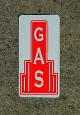 GAS RED Metal Sign 40's 50s Retro Vintage Style Art Deco Decor Design