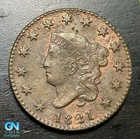 1821 Coronet Head Large Cent   --  MAKE US AN OFFER!  #B6331