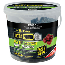 Big Cheese Ultra Power Fast Action Bait Blocks 1kg Rat Mouse Control