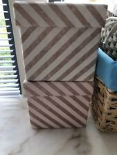Pink Glitter Striped Boxes