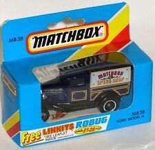 MB38 – MATCHBOX SPEED SHOP – 1980s Matchbox Ford A Van, Made in Macau