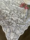 Vintage+White+Cotton+Floral+Quaker+Lace+Tablecloth+
