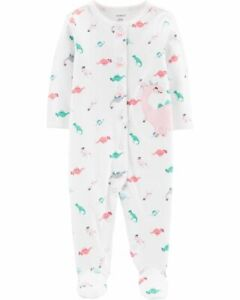 NWT Carter's Baby Girls Dinosaur Snap Up Sleep & Play Size 9 Months