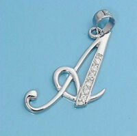 USA Seller Initial Pendant Sterling Silver 925 Best Deal Jewelry Gift Letter A
