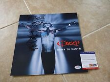 Zakk Wylde Signed Autographed Ozzy Down To Earth LP Poster Flat PSA Certified
