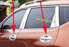 Chrome Side Door Handle Bowl Cover Trim for 2014-2017 Nissan X-Trail Rogue T32