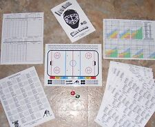 Ice Nutz Hockey Dice Board Game & 2 NHL Original Six Season Cards Sets~1961 1963