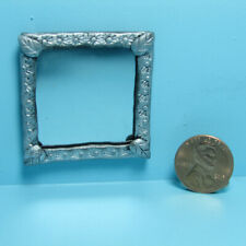 Dollhouse Miniature Handcrafted Silver Floral Leaf Frame Square Wall Mirror SM-3
