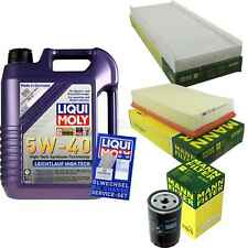 Inspection Kit Filter LIQUI MOLY Oil 5L 5W-40 for Audi 80 8C B4 2.0 E. , 1.6e