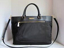 MICHAEL MICHAEL KORS Black COLGATE LARGE EW NYLON TOTE Bag Handbag Purse