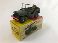 DINKY TOYS 829 106 S R JEEP AVEC CONDUCTEUR  MECCANO TRIANG FRANCE BOITE C2459