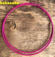 Coloured Big Round 8 cm Skinny Hoops - Coloured Skinny Hoop Earrings - 6 Colours
