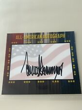 Signed President Donald Trump 3x5 Authentic All-American Autograph Card