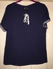 La Redoute Navy Top, Size 10-12 - Lovely!
