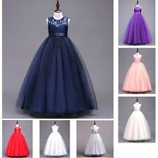 Vestito Lungo Cerimonia Feste Compleanno Bambina 4-15 A Party Girl Dress CDR069