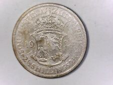 SOUTH AFRICA 1924 2 1/2 Shillings  Silver Geo V   FINE