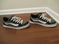 Rare Classic Used Worn Size 12 Vans Transistor Skateboard Shoes Gray Black Green