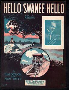 Hello Swanee Hello 1926 Lou Calabrese Sheet Music