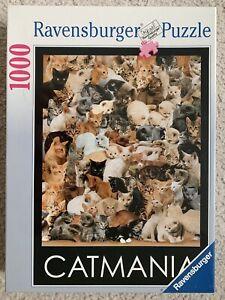 NEW Cats Ravensburger 1000 Pc Jigsaw Puzzle CATMANIA Rare 1997 FACTORY SEALED
