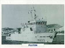 1986 PLUTON Auxiliary Support Ship / France Warship Photograph Maxi Card