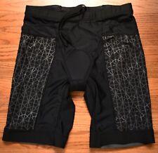 "TYR Competitor 9"" Tri Triathlon Cycling Shorts Mens XL Black Bicycle"