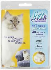 Soft Claws Nail Caps for Cats and Kitten SMALL CLEAR 40