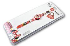 """Disney Orologio da bambini Quarzo Rosso Bianco """"Minnie Mouse"""" I-60412111664350"""